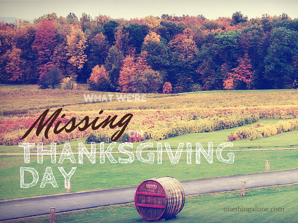 What We're Missing on Thanksgiving Day