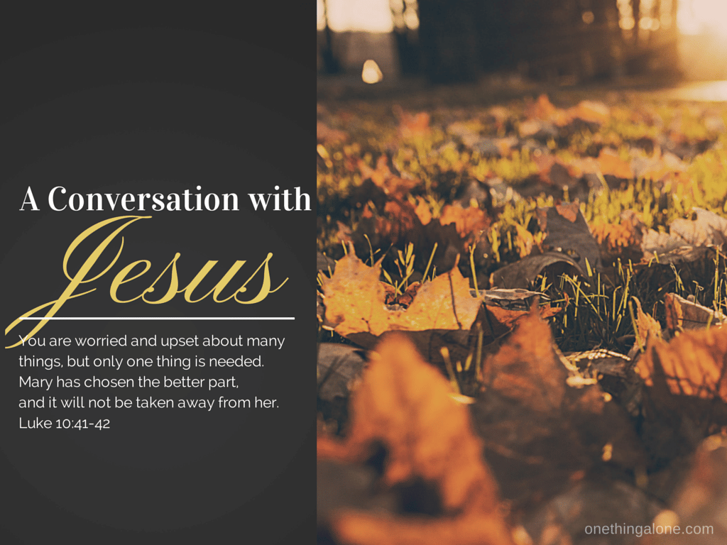 conversation with Jesus