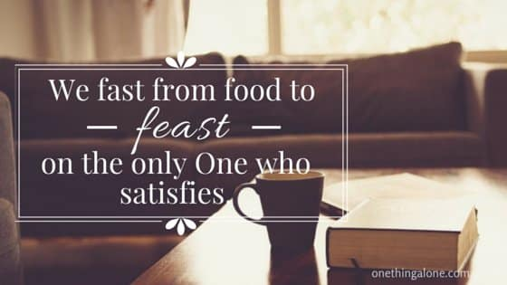Fast from food to feast on God_sm