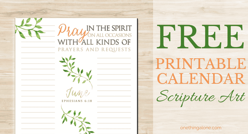 image relating to Printable Prayer List identify The June Scripture Artwork Calendar (Ideal for Prayer Lists